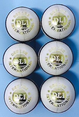 .6x4Pcs WHITE CRICKET PRACTICE BALL PURE LEATHER - HAND SEWN-SINGLE BALL$18