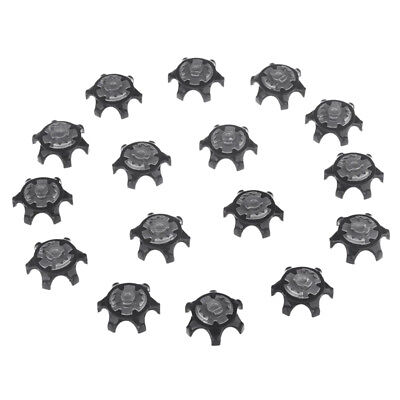 16Pcs Black Easy Replacement Spikes Ultra Thin Cleats for Golf Shoes Z8E1
