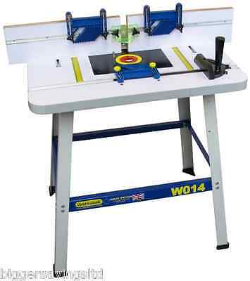 """Charnwood W014P Floor Standing Router Table - Will Fit Any 1/4"""" + 1/2"""" Router"""