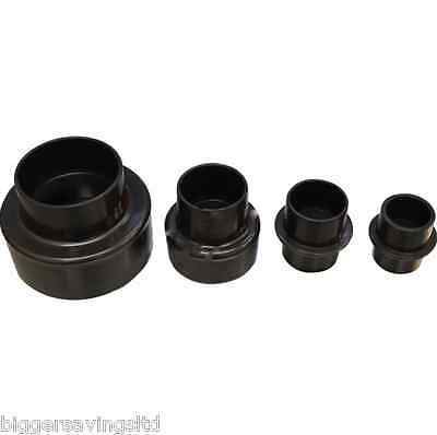 100Mm To 35Mm Dust Extractor Extraction 4 Piece Stepped Reducer Adapters
