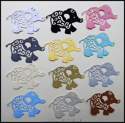 Elephant Die Cuts X 15,boys,card Making,embellishment,album,baby,girls,toppers