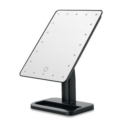 20LED Touch Screen Adjustable Tabletop LED Lighted Cosmetic Vanity Makeup M PF