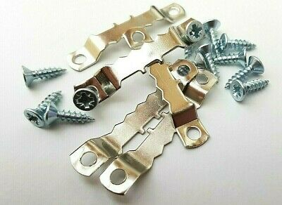 Saw Tooth Picture Hanger With Screws 45mm Canvas Hanging Nickel Multi Listing