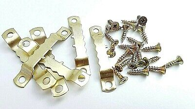 Picture Saw Tooth Hanger Brassed With Screws 45mm Canvas Frame Multi list