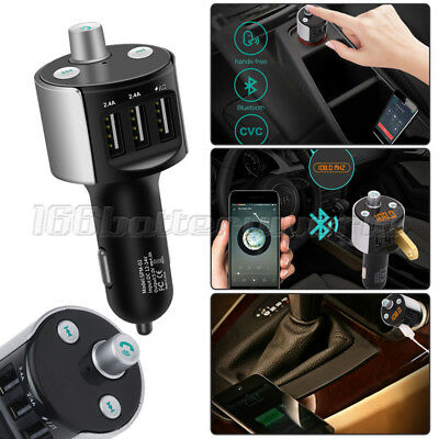 Wireless Bluetooth FM Transmitter Car MP3 Player LED USB Port Mobile Charger Kit