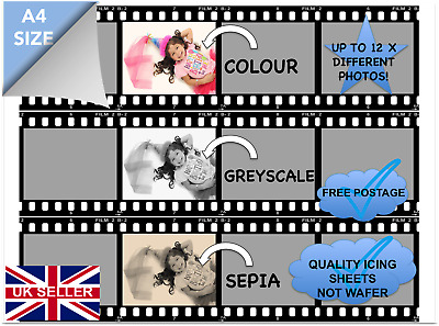 **BUY 2 GET 3**EDIBLE CAKE FILM STRIP ONLY FOOLS AND HORSES QUALITY ICING PAPER