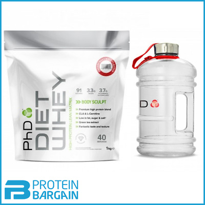 PhD Diet Whey 1kg Lean Protein Weight Loss Slimming Shake + FREE 1.5L WATER JUG
