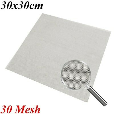 """12""""x 12"""" Stainless Steel 30 Mesh Woven Cloth Screen Wire Filter Sheet UK"""