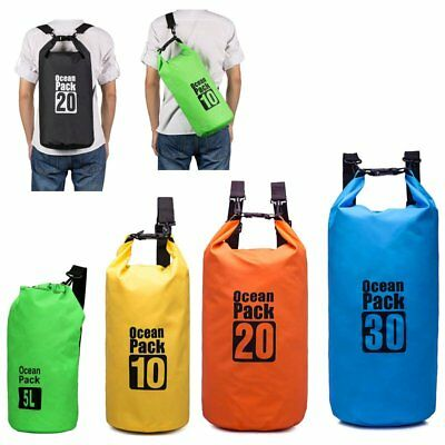 5L 10L 20L 30L Waterproof Storage Dry Carry Bag Sack Backpack Pouch Boat Sports