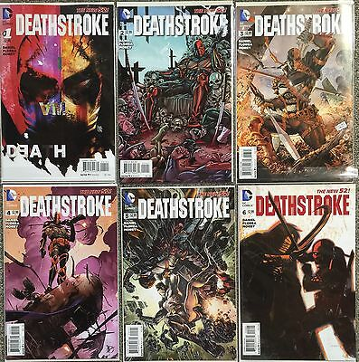 X6 Deathstroke #1 2 3 4 5 6 set : 1:25 Andrea Sorrentino Variant DC 2014 New 52