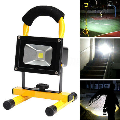 10W IP65 12V Cordless Rechargeable LED Flood Light Hand Lamp Work Torch Light
