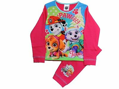 "Girls Paw Patrol ""A Pawfect Team"" Long Sleeve Pyjamas Age 18-24 mths - 4-5 years"