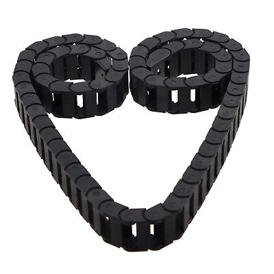 10 x 20mm 1M Open On Both Side Plastic Towline Cable Drag Chain PK