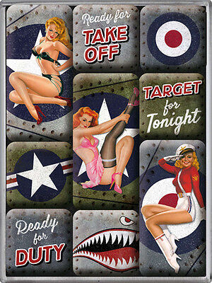 Magnet-Set - Nose Art, 9-teilig