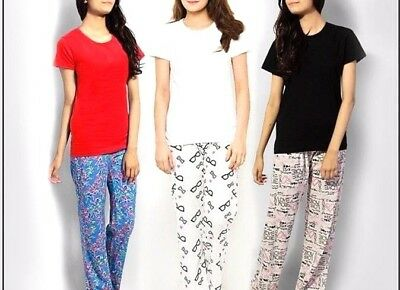LADIES GIRLS NIGHT WEAR TOPS **CHOOSE YOUR COLOUR** - Size UK 10 -100% COTTON