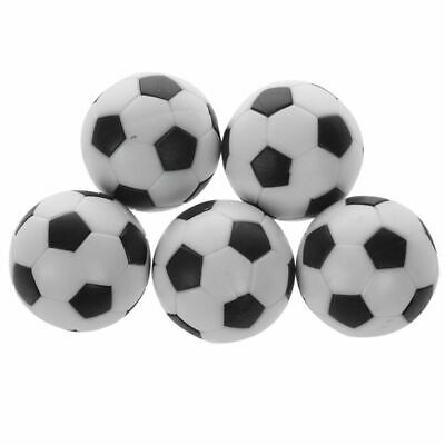 5x Plastic 32mm Soccer Indoor Table Football Ball Replace Black+white A5N9