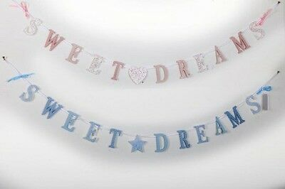 Boys Girls Baby Pink Blue Bunting Garland Chain Wooden Sweet Dreams  sku 200341