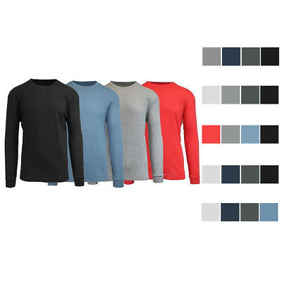 4PACK Mens Thermal Long Sleeve Crew Waffle Knit Shirt from Galaxy by Harvic -NEW