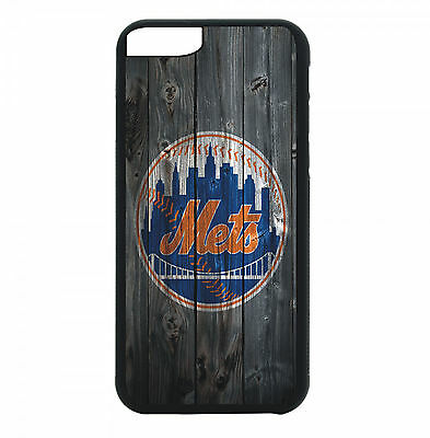 NY New York Mets Phone Case For iPhone X XS Max 8 8+ 7 6 Plus 5 Black TPU Cover