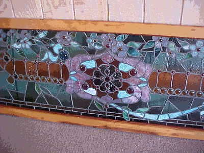 Antique Stained Glass Window  Late 1890's