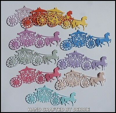 Horse & Carriage Die Cuts X 10,card Making,embellishments,album,girls,weddings,