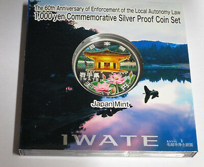 Japan 47 Prefectures Coin Program Iwate 1000 yen silver proof coin 2011 Heisei23