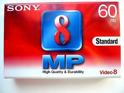 2 Pieces CASSETTE VIDEO 8 mm SONY P5-60MP3 60 minutes MP60  camescope