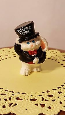 Hallmark Merry Miniatures 1990 White Bunny in a Tux & Top Hat - New!