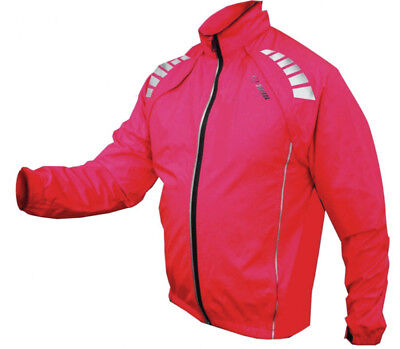 Netti D4 Womens Long Sleeve Convertible Bike Jacket Red