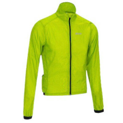 Netti Stow Away Ultra Light Spray Bike Jacket Fluro Yellow