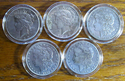 5 Five Mixed Silver Dollars - Great Silver Investment - Free Shipping!    14