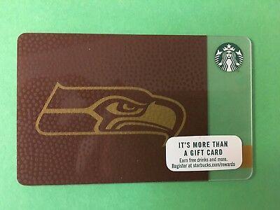 2017 Starbucks Seattle Seahawks Gift Card. In Hand Fast Shipping