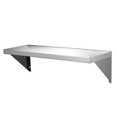 Commercial Stainless Steel Wall Shelf Mounted Kitchen Shelves w/ Brackets