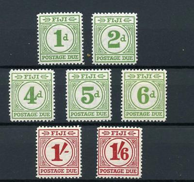 Fiji 1940 Postage Due short set to 1/6 SGD1/8 (exc 3d) MM cat £121