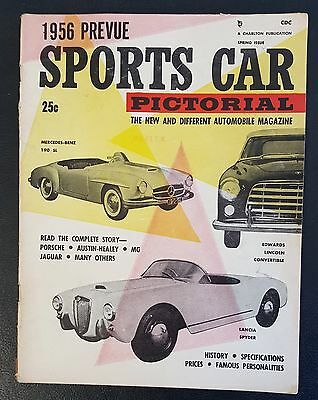 """Spring 1956 The New And Different Automobile Magazine """"Sports Car Pictorial"""""""