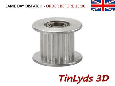 GT2 Idler Pulley, toothed 20 teeth - 5mm Bore for 10mm wide belt CNC 3D PRINTER