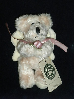 """Vintage Boyd's 5"""" Plush Jointed Angel Bear Ornament w/Tag ~ """"Orion"""" ~ Retired"""