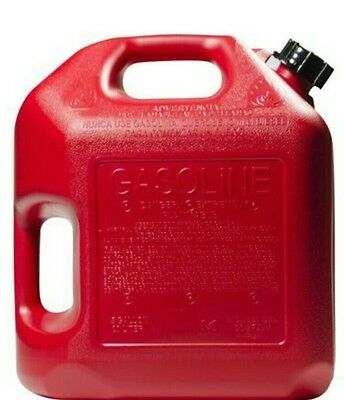 5 Gallon Red Plastic Gas Can CARB Compliant