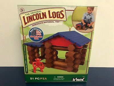 The Original LINCOLN LOGS Forge Mill Cabin Set + Cowboy (51 pieces) ~ Brand New!
