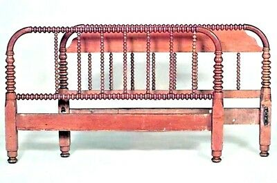 American Victorian Style (19/20th Cent.) Walnut Spool Design Single Size Bed