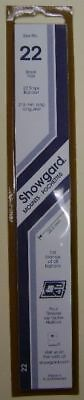 Showgard size 22 black hingeless stamp mount NEW unopened pack 1st quality 215mm