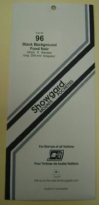 Showgard size 96 black hingeless stamp mount NEW unopened pack 1st quality