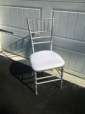 250 Silver Wood Wooden Chiavari Stackable Used Chairs