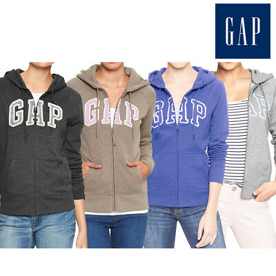 GAP Women LOGO Hoodie Zip Up Fleece NEW with Tag