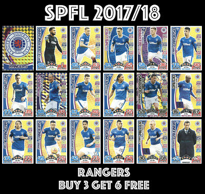 Spfl Match Attax 2017/18 Rangers