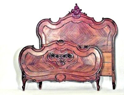 French Louis XV Provincial Style (19/20th Cent.) Walnut Full Size Bed