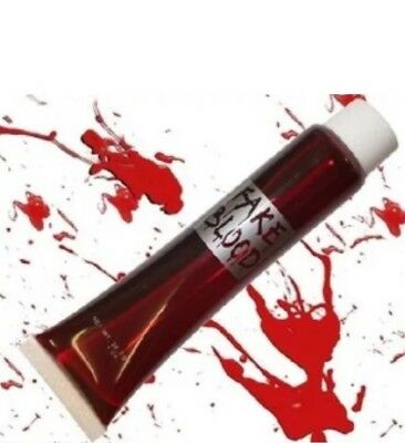 Fake Halloween Red Blood Vampire Zombie Face Make Up Fancy Dress Theatrical Fun