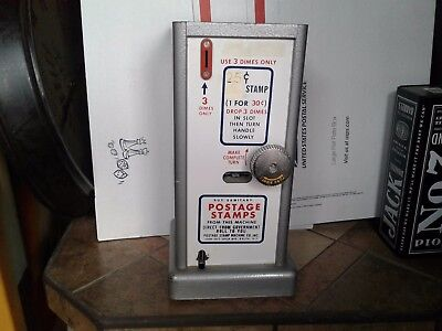 Vintage Mid Century USPS stamp vending machine US Post Office collectible c pics