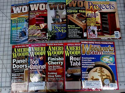 10   Woodworking Magazines  Lot Used And In Great Condition  Lot # 2