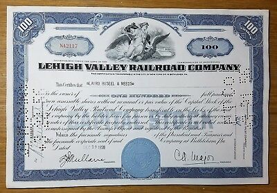 1955 Lehigh Valley Railroad Company Stock Certificate